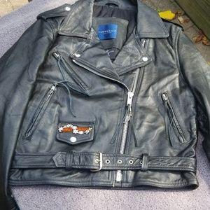 Women's leather biker jackets